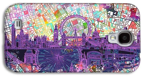 London Skyline Abstract Galaxy S4 Case