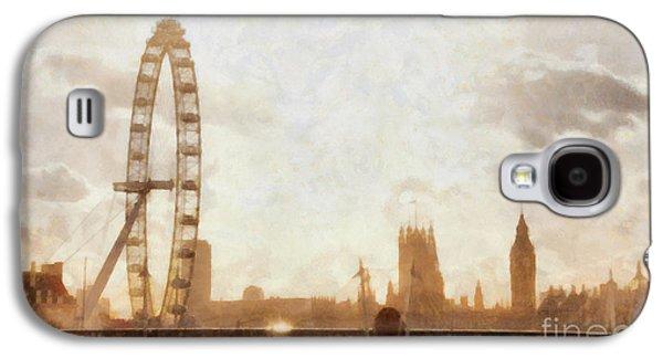 London Skyline At Dusk 01 Galaxy S4 Case