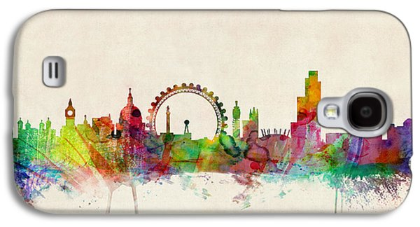 London Skyline Panoramic Galaxy S4 Case by Michael Tompsett