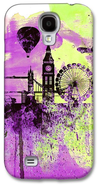 London Skyline Watercolor 1 Galaxy S4 Case by Naxart Studio