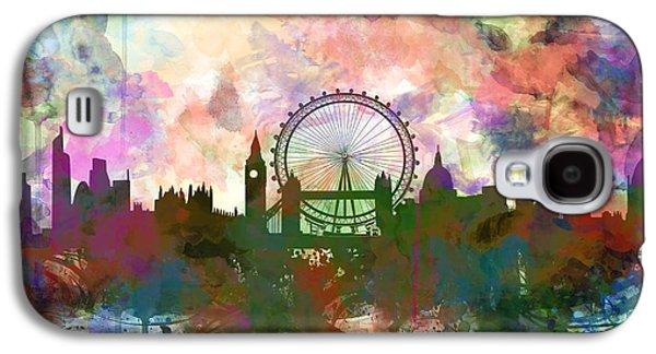 London Skyline Watercolor Galaxy S4 Case