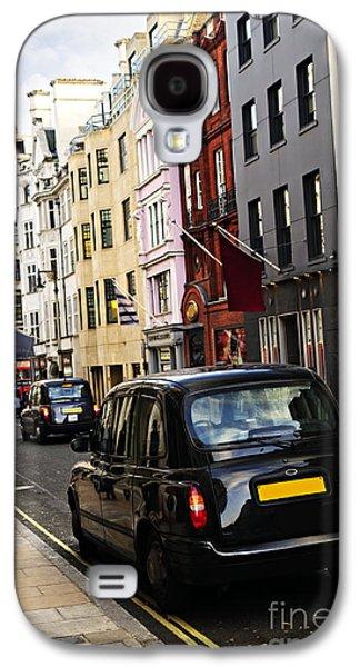 London Taxi On Shopping Street Galaxy S4 Case by Elena Elisseeva