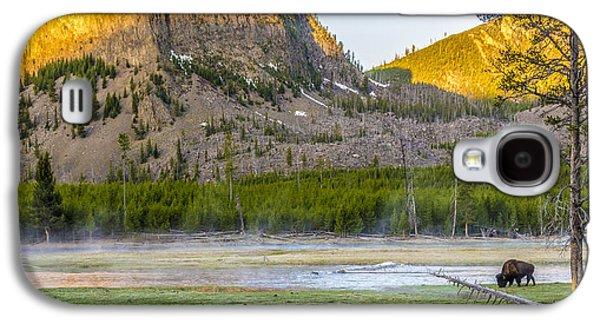 Lone Buffalo Yellowstone National Park Galaxy S4 Case