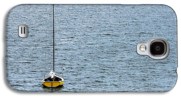 Boats On Water Galaxy S4 Cases - Lone Sailboat Galaxy S4 Case by Heidi Piccerelli