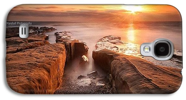 Long Exposure Sunset At A Rocky Reef In Galaxy S4 Case by Larry Marshall