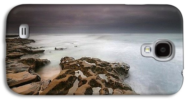 Long Exposure Sunset On A Dark Stormy Galaxy S4 Case by Larry Marshall