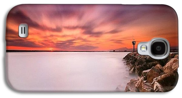Long Exposure Sunset Shot At A Rock Galaxy S4 Case by Larry Marshall