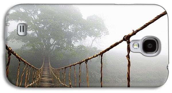 Long Rope Bridge Galaxy S4 Case by Skip Nall