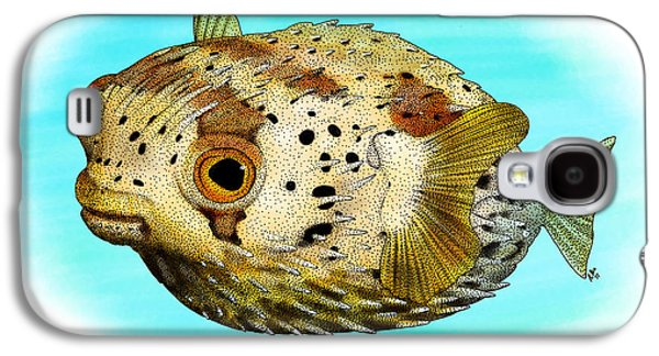 Long-spine Porcupine Fish Galaxy S4 Case