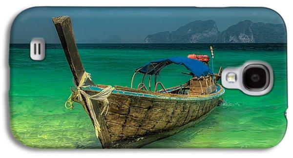 Boat Galaxy S4 Case - Longboat by Adrian Evans