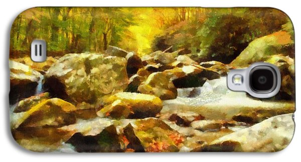 Looking Down Little River In Autumn Galaxy S4 Case by Dan Sproul