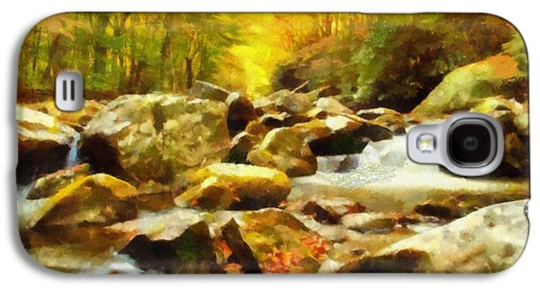 Looking Down Little River In Autumn Galaxy S4 Case