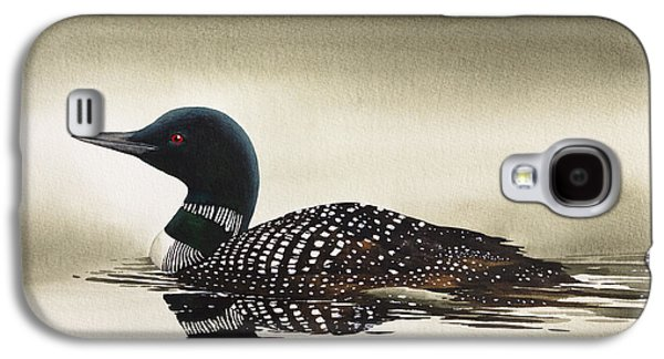 Loon In Still Waters Galaxy S4 Case by James Williamson