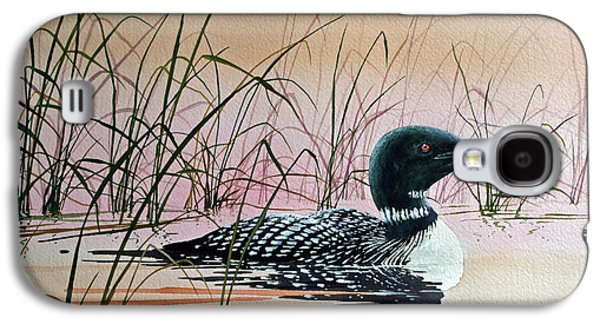 Loon Sunset Galaxy S4 Case by James Williamson