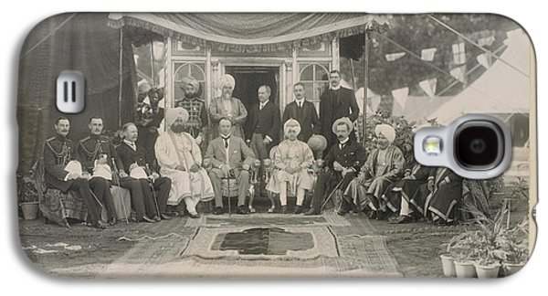 Lord Curzon And The Maharaja Of Patiala Galaxy S4 Case by British Library
