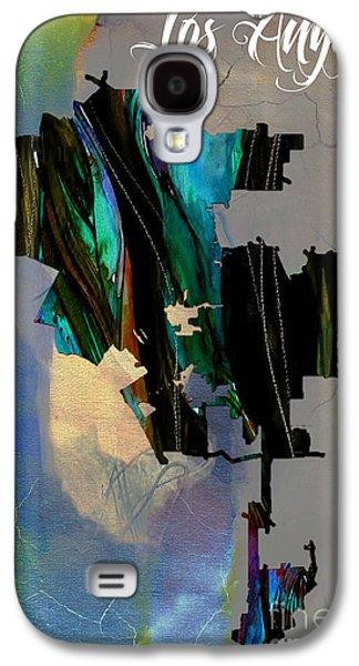 Los Angeles Map Watercolor Galaxy S4 Case