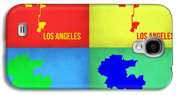 Los Angeles Pop Art Map 1 Galaxy S4 Case