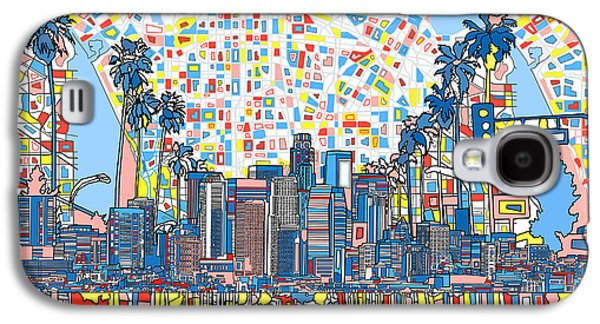 Los Angeles Skyline Abstract 3 Galaxy S4 Case by Bekim Art