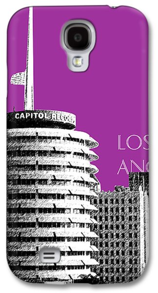 Los Angeles Skyline Capitol Records - Plum Galaxy S4 Case by DB Artist