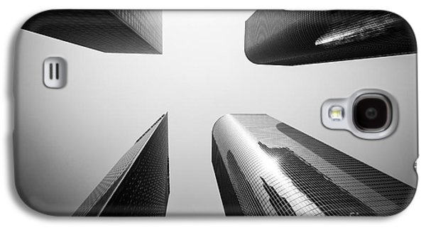 Los Angeles Skyscraper Buildings In Black And White Galaxy S4 Case by Paul Velgos