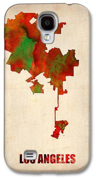 Los Angeles Watercolor Map Galaxy S4 Case
