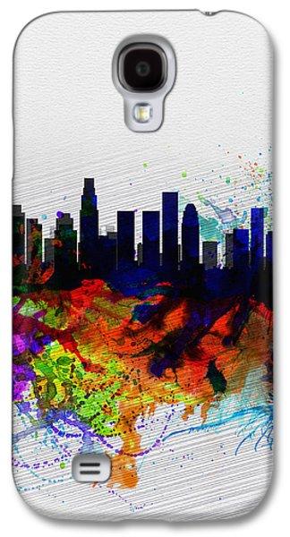 Los Angeles  Watercolor Skyline 2 Galaxy S4 Case
