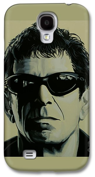 Rock And Roll Galaxy S4 Case - Lou Reed Painting by Paul Meijering
