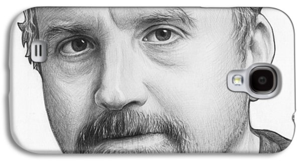 Louis Ck Portrait Galaxy S4 Case by Olga Shvartsur