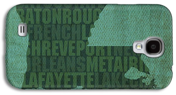 Louisiana Word Art State Map On Canvas Galaxy S4 Case by Design Turnpike