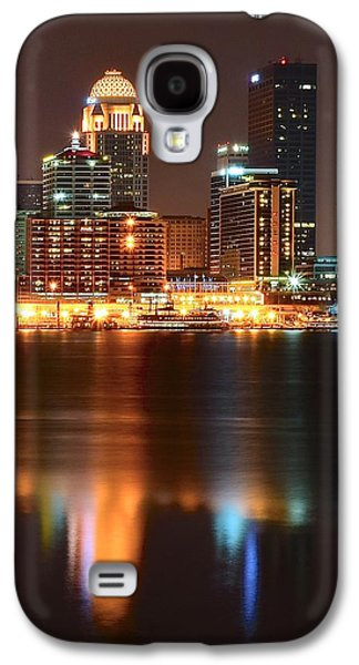 Louisville At Night  Galaxy S4 Case by Frozen in Time Fine Art Photography