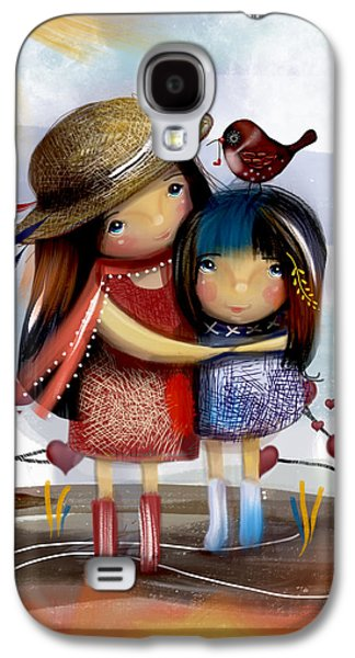 Love And Friendship  Galaxy S4 Case by Karin Taylor