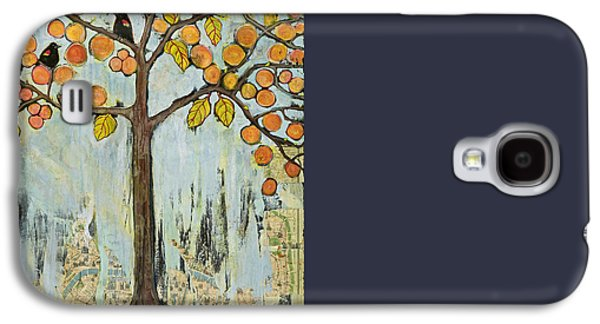 Love Birds In Paris Galaxy S4 Case by Blenda Studio