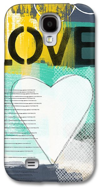 Love Graffiti Style- Print Or Greeting Card Galaxy S4 Case by Linda Woods