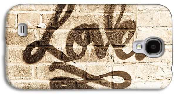 Love Graffiti Galaxy S4 Case by Tom Gowanlock