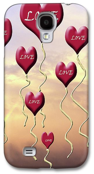 Love Is In The Air Sunshine Rainbow Galaxy S4 Case by Cathy  Beharriell
