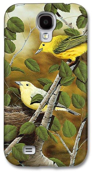 Warbler Galaxy S4 Case - Love Nest by Rick Bainbridge