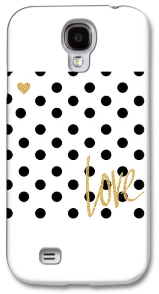 Love With Dots Galaxy S4 Case by South Social Studio
