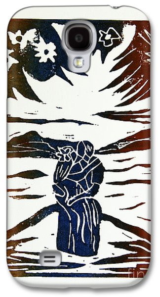 Lovers - Lino Cut A La Gauguin Galaxy S4 Case