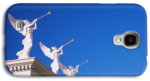 Low Angle View Of Statues On A Wall Galaxy S4 Case by Panoramic Images