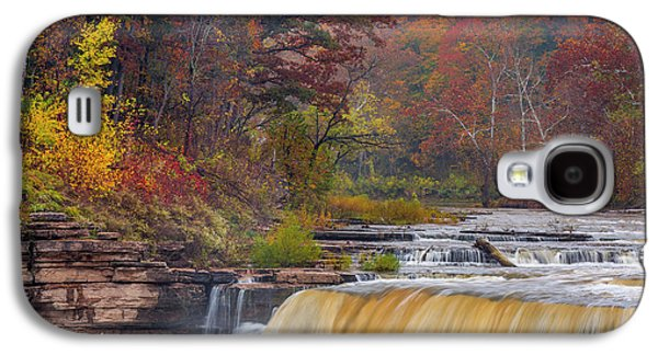 Lower Cataract Falls On Mill Creek Galaxy S4 Case by Chuck Haney