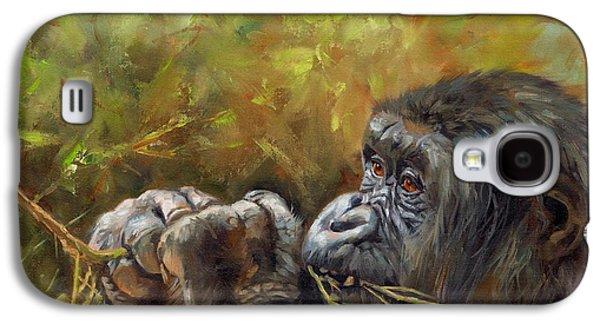 Lowland Gorilla 2 Galaxy S4 Case by David Stribbling