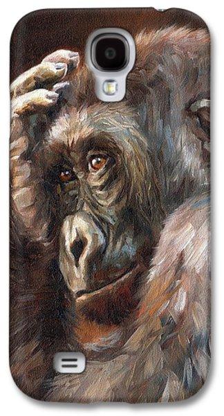Lowland Gorilla Galaxy S4 Case by David Stribbling