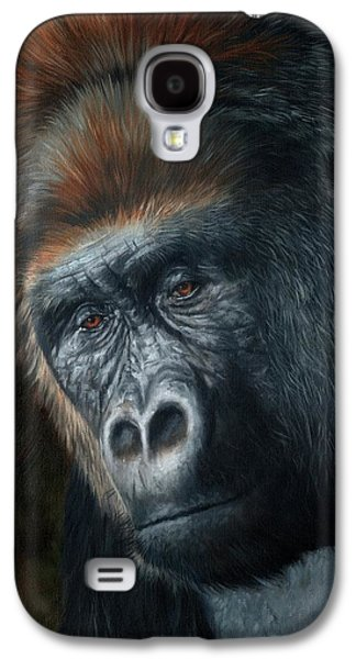 Gorilla Galaxy S4 Case - Lowland Gorilla Painting by David Stribbling