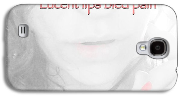 Lucent Lips Galaxy S4 Case by Charlotte  DiSipio-Grillo