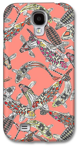 Lucky Koi Coral Galaxy S4 Case by Sharon Turner