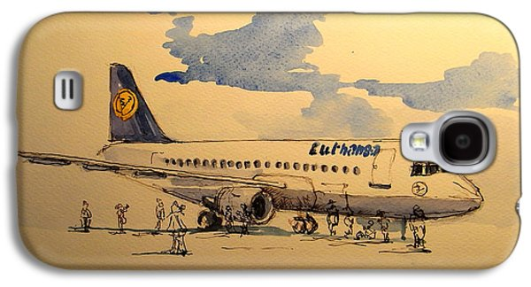 Lufthansa Plane Galaxy S4 Case by Juan  Bosco