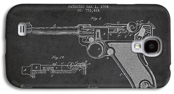 Lugar Small Arms Patent Drawing From 1904 - Dark Galaxy S4 Case by Aged Pixel