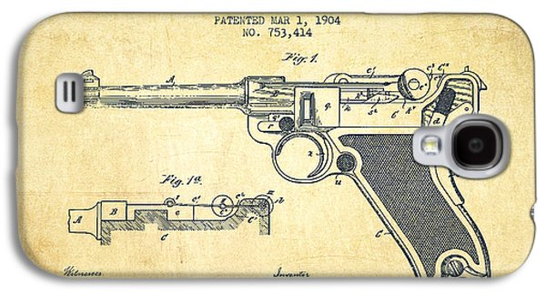 Lugar Small Arms Patent Drawing From 1904 - Vintage Galaxy S4 Case by Aged Pixel