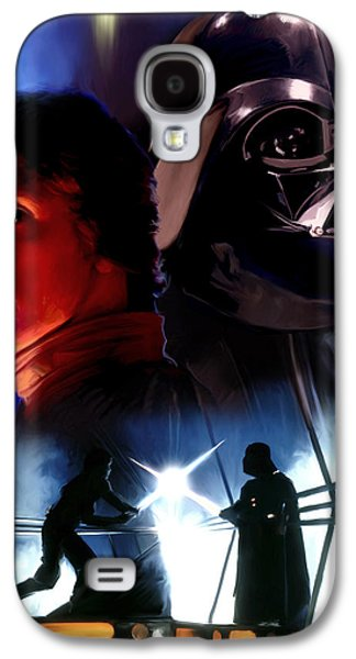 Luke Skywalker Vs Darth Vader Galaxy S4 Case by Paul Tagliamonte