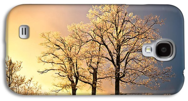 Luminous - Blue Ridge Winter Sunset Galaxy S4 Case by Dave Allen